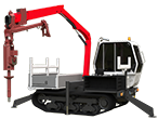 Terrain Master TC600 Tracked Carrier PEU. Loader Crane + 40,000PXV Powerhead
