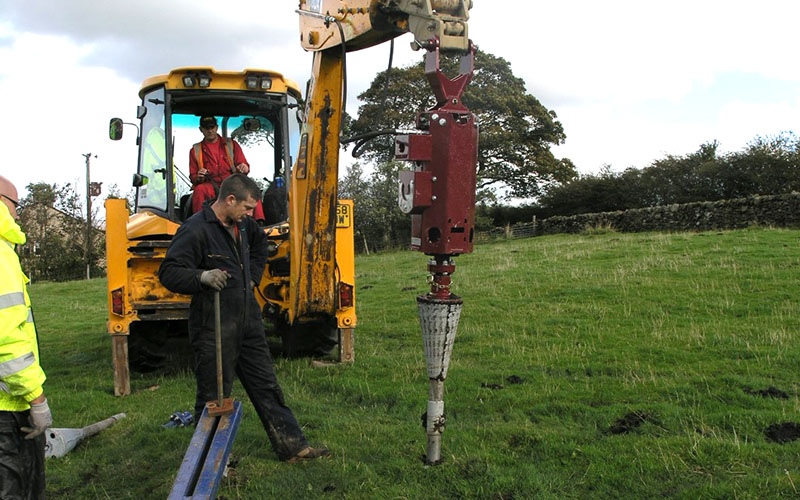 76R Conical Anchor installation for wind turbines. 1800X Torque Head